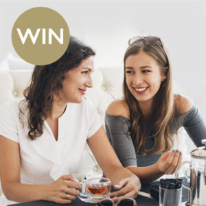 Win a gold experience with afternoon tea for two!